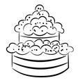 Cartoon cake eps10 vector image vector image