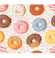 cartoon donuts hand drawn vector image vector image