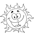 Cartoon sun vector image vector image