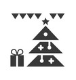 christmas ornament christmas related solid style vector image vector image