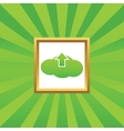 Cloud upload picture icon vector image vector image