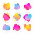 color abstract liquid halftone patterns fluid vector image