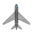 color crayon stripe cartoon top view travel vector image vector image