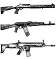 combat weapons 1 vector image vector image