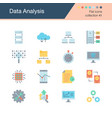 data analysis icons flat design collection 41 vector image vector image