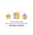 decision making strategy concept icon vector image vector image