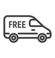 delivery van line icon logistic and delivery vector image vector image