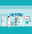 doctor and patient at orthopedic clinics and vector image vector image