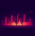 Doha skyline qatar flat design vector image