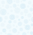 Doodle snowflakes seamless vector image vector image