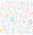 easter seamless pattern colored eggs with vector image vector image