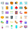 equipment icons set cartoon style vector image vector image