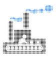 fabric building halftone icon vector image