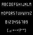 Fine digital font vector image