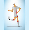 football player 20 vector image vector image
