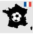france map with flag and soccer ball vector image