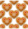 Gingerbread cookies seamless pattern with heart vector image