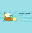 happy easter banner horizontal concept vector image