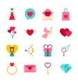 Happy Valentine Day Objects vector image