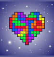 heart old video game design vector image vector image