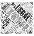 How to choose an attorney Word Cloud Concept vector image vector image