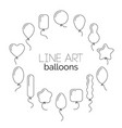 icon set of balloons vector image vector image