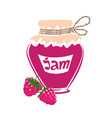 jar of raspberry jam vector image