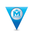 museum icon pointer blue vector image vector image