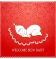 New baby red shower invitation