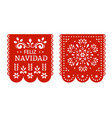 papel picado garlands mexican fiesta decorations vector image