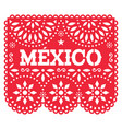 papel picado mexico design retro mexican vector image vector image