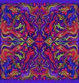 psychedelic vivid mandala with waves ornament vector image vector image