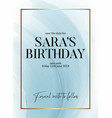 save date birthday party design liquid flow vector image vector image