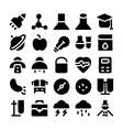 Science icons 10 vector image vector image