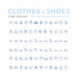 set color icons clothes shoes and accessories vector image vector image