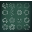Set of flower shapes 16 elements for your design vector image vector image