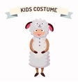 Sheep kid costume isolated vector image vector image