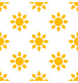 simple sun seamless pattern background vector image vector image