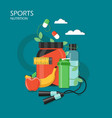 sports nutrition in flat style vector image
