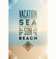summer time typographic blurry background poster vector image vector image