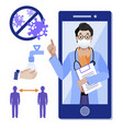 telemedicine online medicine medical consultant vector image