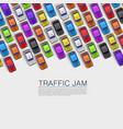 traffic jam on road vector image