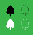 tree icon black and white color set vector image vector image