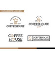 unique coffee and tea logotype design template vector image
