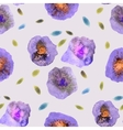 Vintage Watercolor Flower Pattern White backdrop vector image vector image