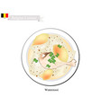 waterzooi or belgian creamy soup with chicken vector image vector image