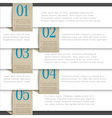 White paper numbered banners vector image vector image