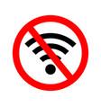 wifi error signal offline icon off vector image