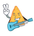 with guitar nachos mascot cartoon style vector image vector image