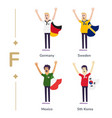 world competition soccer fans support national vector image